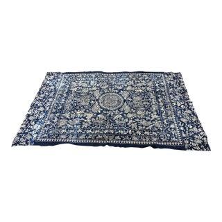 Antique Chinese Indigo Batik Panel