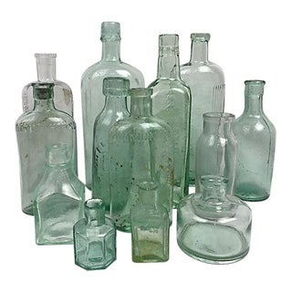 English Advertising Bottles - Set of 13