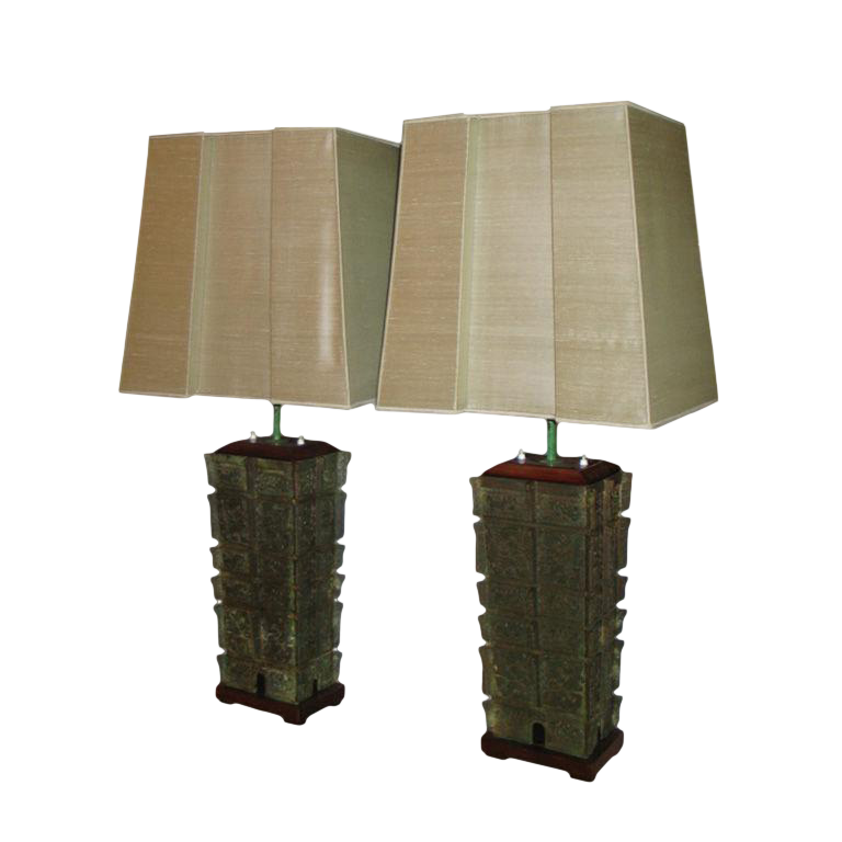 Oversized Pagoda Table Lamps