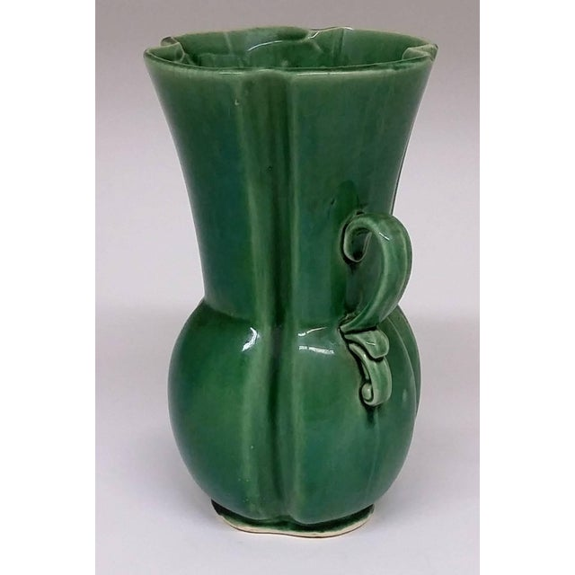Image of RB USA Rare Mid-Century Two-Handled Green Vase
