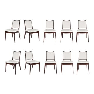 Set of 10 Frame Back Dining Chairs