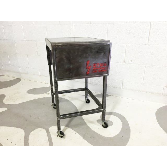 Industrial Metal Cart With Russian Industrial Sign - Image 5 of 6