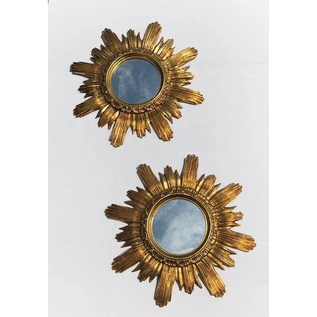 Italian Starburst Mirrors- A Pair - Image 2 of 8