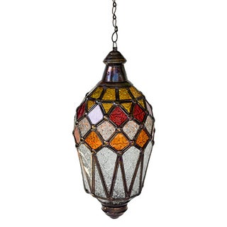 Hanging Lantern With Kaleidoscope Accents