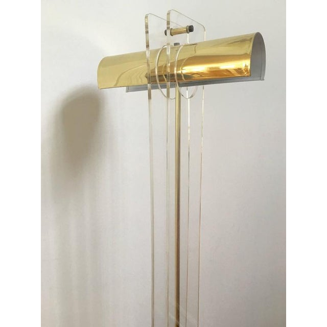 Image of Pierre Cardin Style Brass and Lucite Floor Lamp