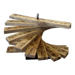 Recycled Hardwood Spiral Art Sculpture
