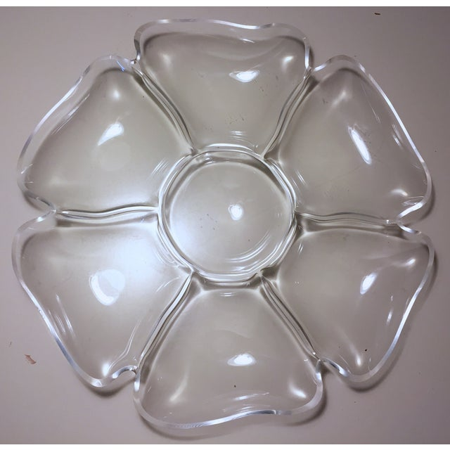 Vintage Lucite Flower Tray - Image 2 of 6