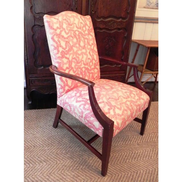 Rose Cummings Ribbon Chintz Upholstered Armchair - Image 2 of 8