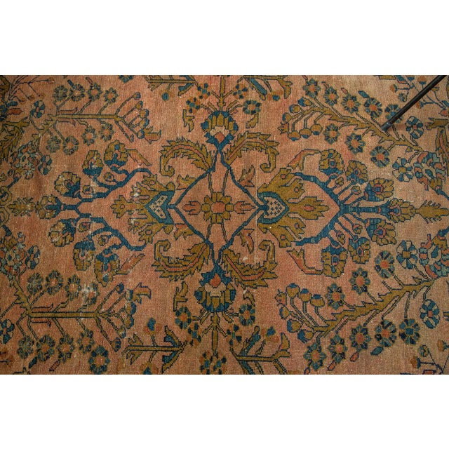 "Antique Lilihan Square Rug - 5' X 5'9"" - Image 5 of 9"