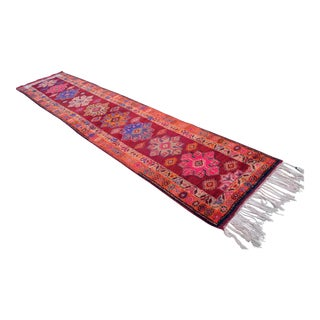 Kurdish Hand Knotted Runner Rug - 2′11″ X 12′10″