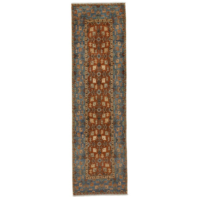 "New Serapi Hand Knotted Runner - 2'9"" x 9'9"" - Image 1 of 3"