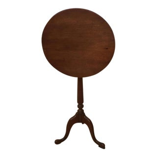 Antique Walnut Round Tilt Top Table
