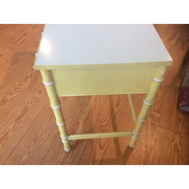 Thomasville Vintage Faux Bamboo Desk - Image 5 of 9