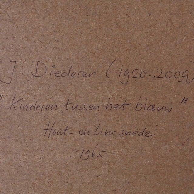 """J. Diedren """"Kinderen Tussen Het Blaw"""" Lithography, 1965 - Image 9 of 10"""