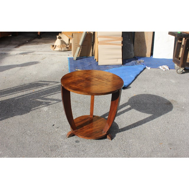 Beautiful French Art Deco Coffee Table or Side Table Exotic Walnut, circa 1940s - Image 9 of 10