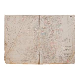 Vintage Hopkins Map of Village of Mt Kisco