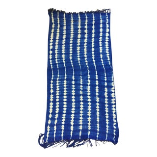 Vintage Tribal Blue & White Cotton Batik Fabric