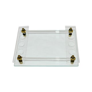 Glass and Lucite Vanity Tray