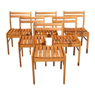 Danish Modern ScanTeak Outdoor Chairs - Set of 6