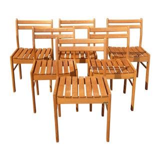 Danish Modern ScanTeak Outdoor Chairs - Set of 6