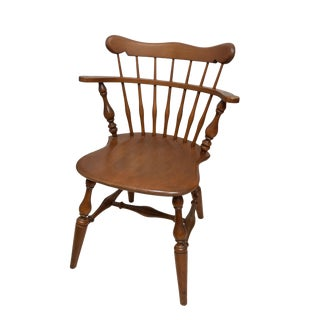 Ethan Allen #10-6040 Nutmeg Maple Heirloom Chair From 1970s