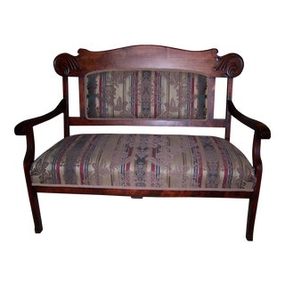 Antique Green & Red Bench