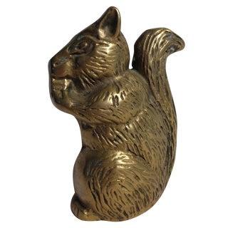 Brass Squirrel Figurine