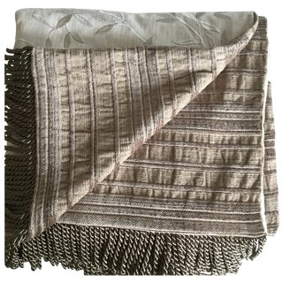 Reversible Linen and Satin Throw