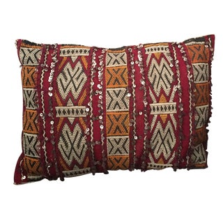 Embellished Moroccan Berber Pillow