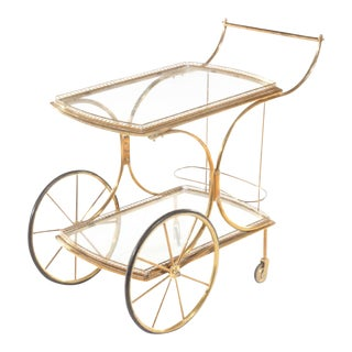 French Bronze Cart, 1940s