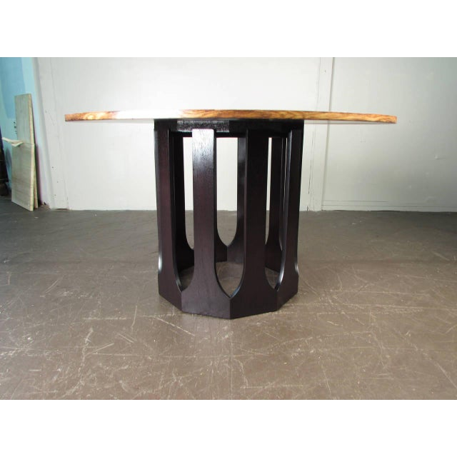 Harvey Probber Bleached Rosewood & Mahogany Dinette Table - Image 3 of 6
