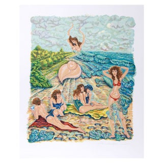 Rochelle Steiner Lithograph - Painting with Sand