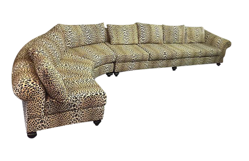 High Quality Leopard 2 Piece Sectional Sofa