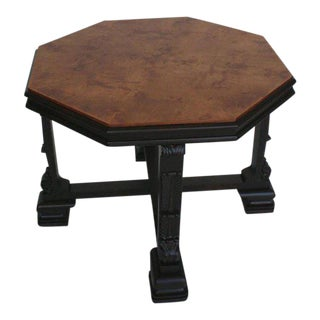 Swedish Grace Period Table with Ebonized Carved Base