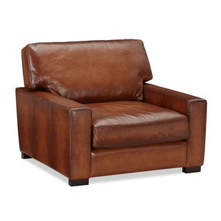 Square Leather Club Chair