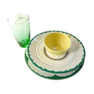 Vintage Mismatched Lunch Setting - Set of 5