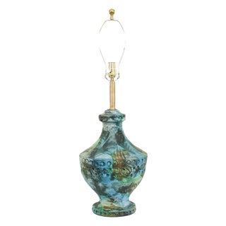 Alvino Bagni Sea Garden Mid-Century Pottery Lamp