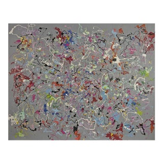 Michael Karr Large Abstract Acrylic on Canvas