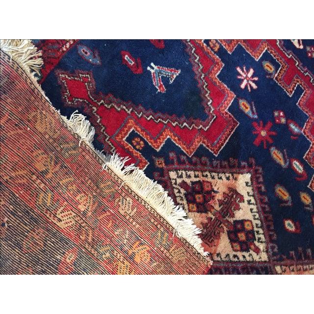 Vintage Ornate Kazak Persian Rug - 5' x 6' - Image 10 of 10