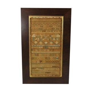 1740s Fine Antique Sampler
