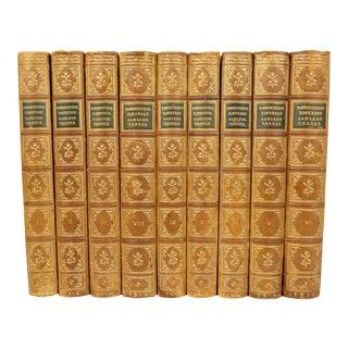 Antique Leather-Bound Books S/9