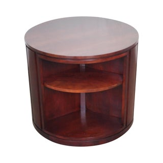 Stickley Round Solid Cherry Revolving Bookcase End Table