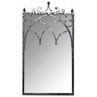 Silvertone Arched Mirror