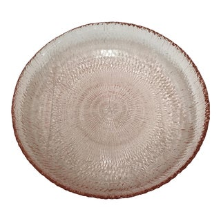 Pink Glass Shallow Bowl