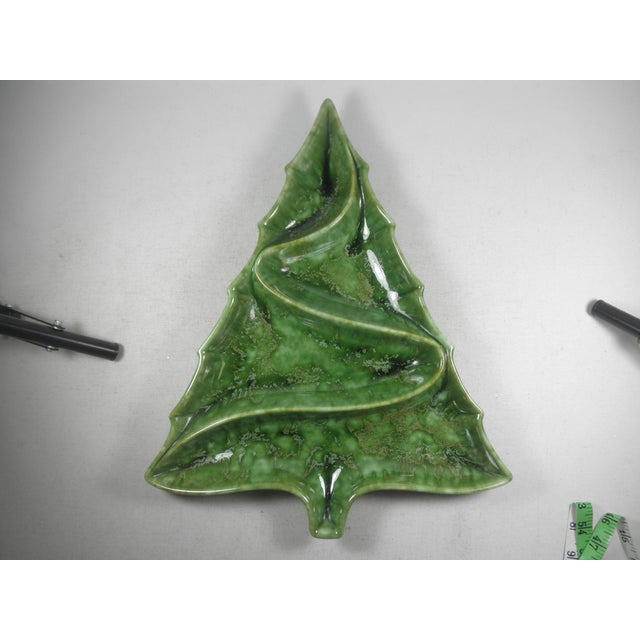 Image of Christmas Tree Pottery Divided Dish