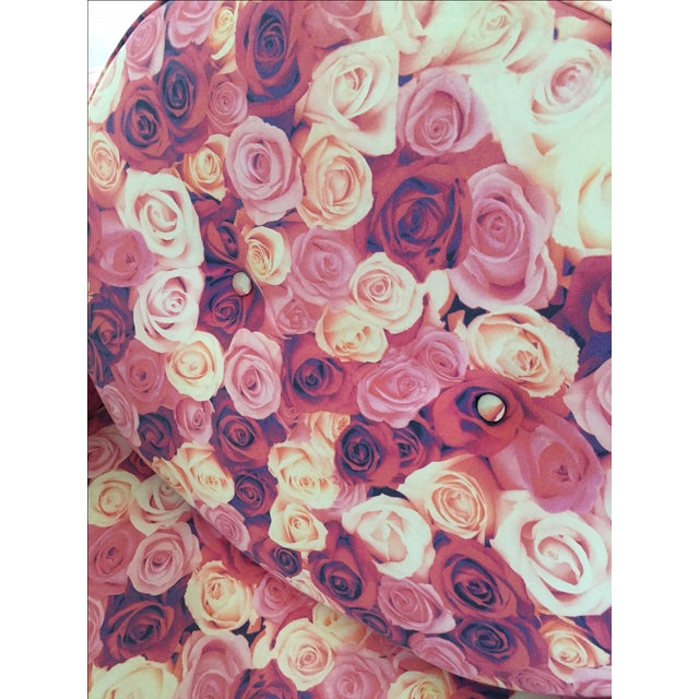 Rose Print Upholstered Chair - Image 5 of 5