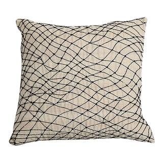 Pyar Black Beaded Pillow