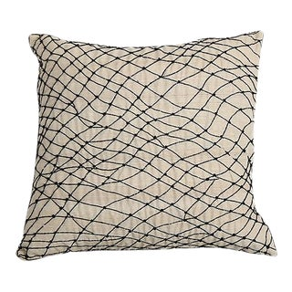 Pyar Black Beaded Pillow