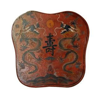 Chinese Orange Red Dragons Graphic Box