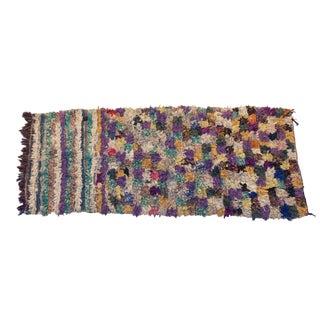 "Vintage Boucherouite Moroccan Rug Rag - 2'8""x6'1"""